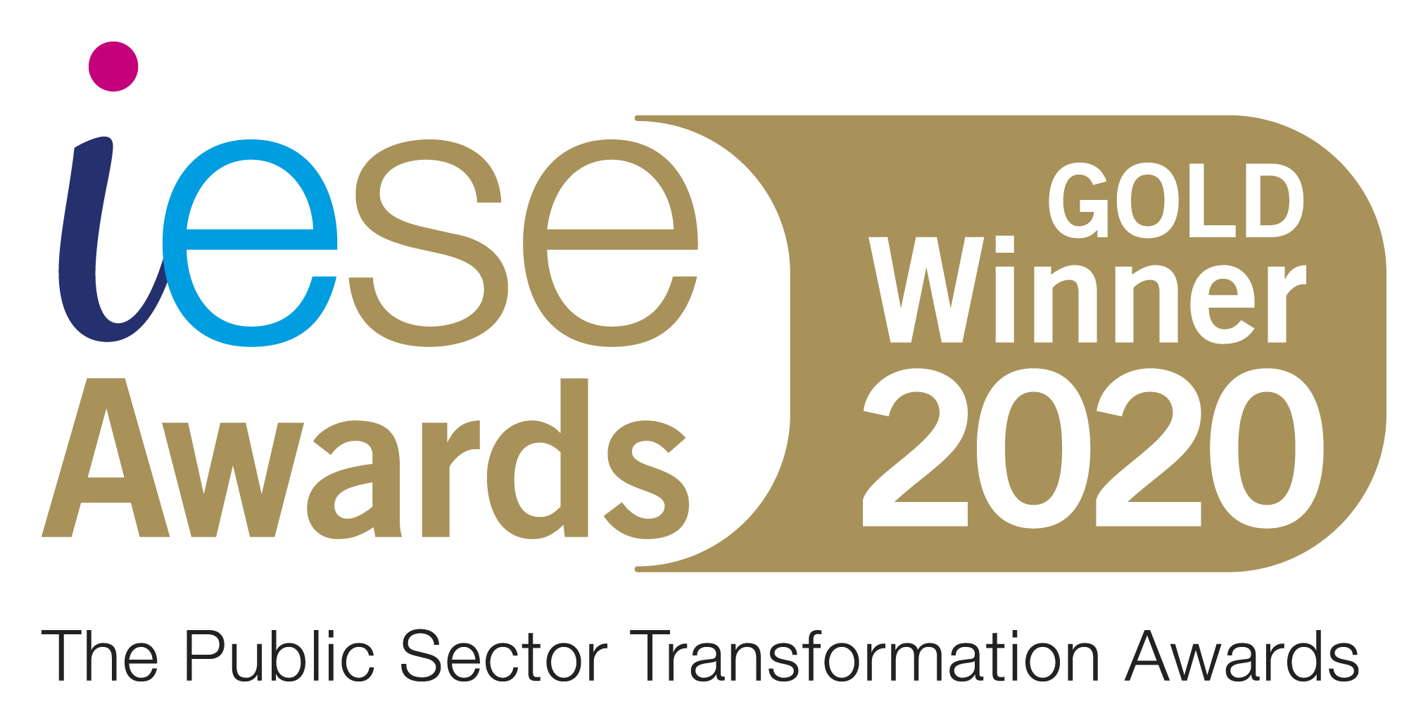 The Public Sector Transformation Awards Gold Winner 2020