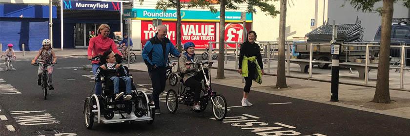 Inclusive bike on road