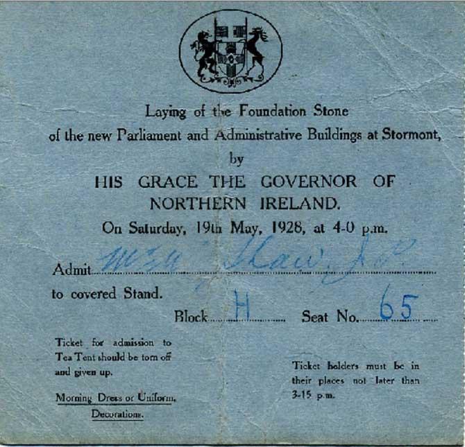 Invitation to William Shaw (Chairman Ballymena Urban Council)