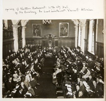 NI Parliament preliminary opening by the Viceroy, Lord Fitzalan 7/06/21