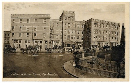 Postcard of Laharna Hotel.   Larne Museum Collection