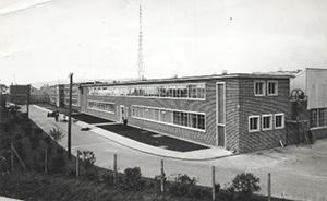 Photograph of the Pye Radio factory, Corran Works, Larne.