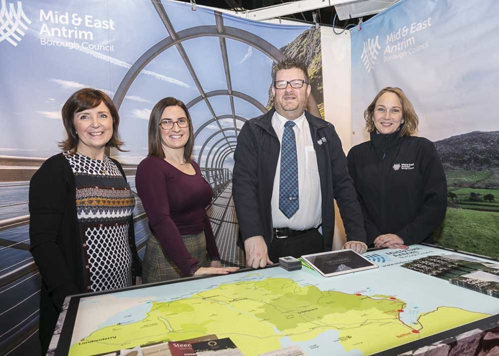 Images from Mid and East Antrim Borough Council delegation's recent attendance at the Holiday World Exhibition