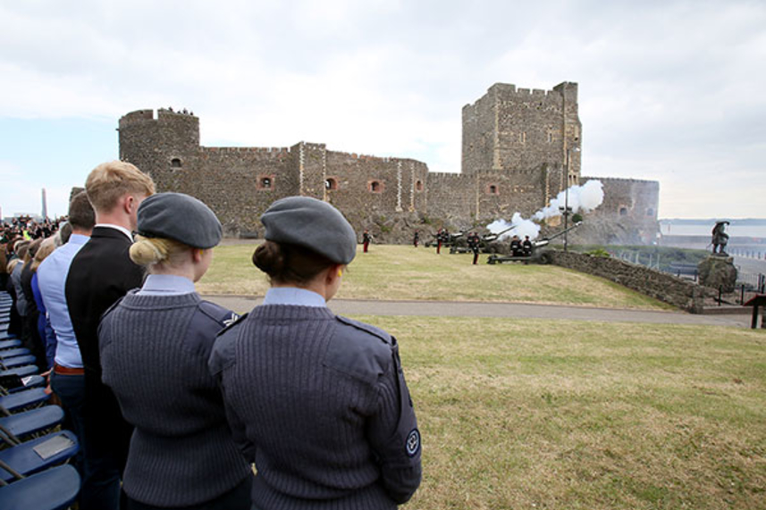Crowds expected in Carrickfergus for Queen's 93rd birthday gun salute image