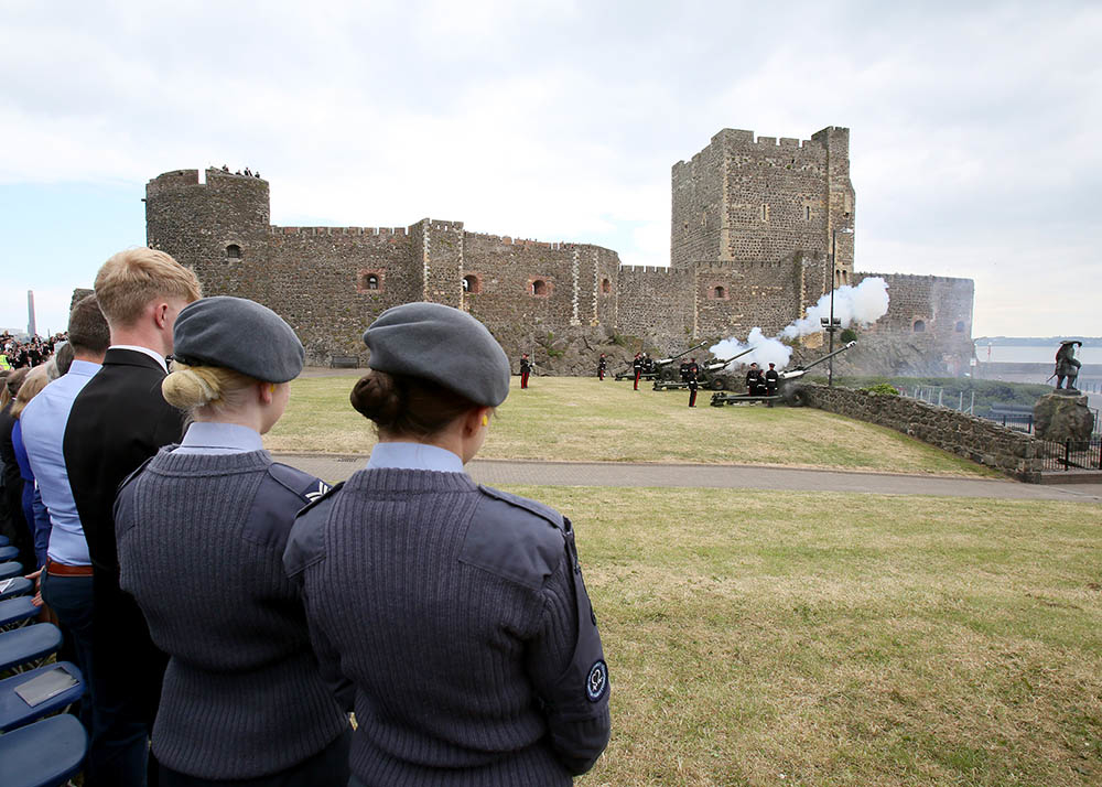 A 21-gun salute which took place to mark the Duke of Edinburgh's 97th birthday in 2018