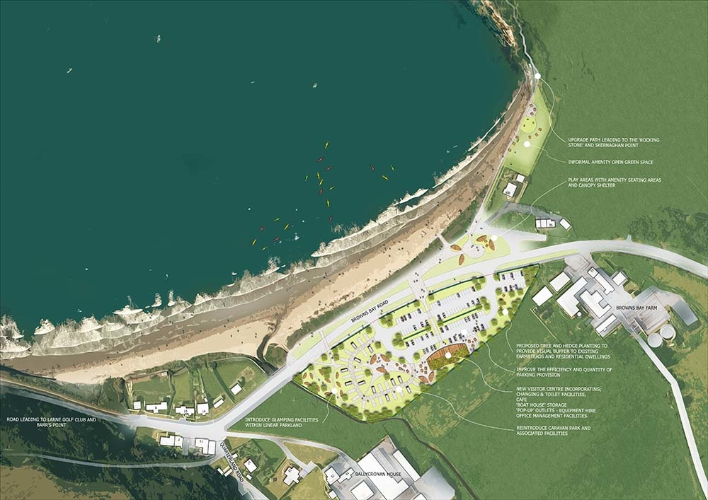 Outline plans for the redevelopment of Browns Bay