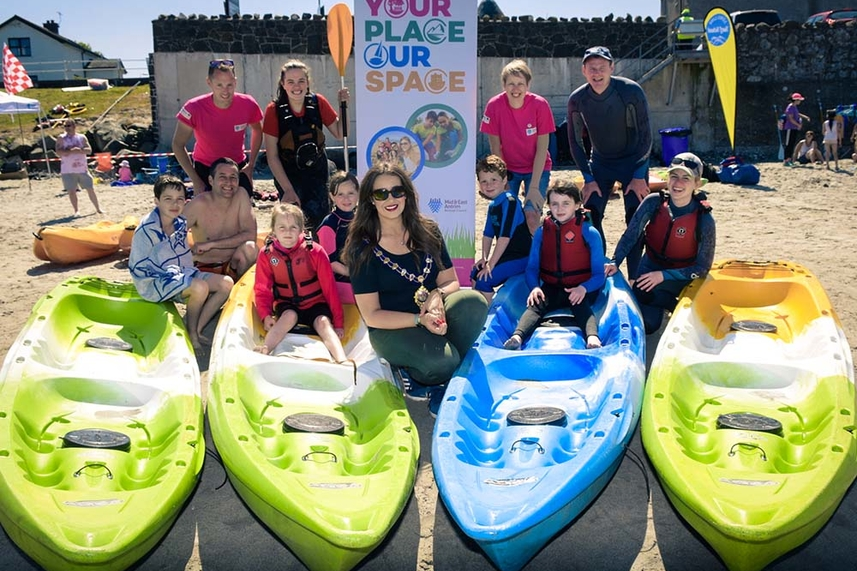 Waves of families have fun in the sun at Ballygally Beach Bonanza image