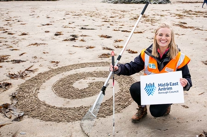 Community beach artwork launches Clean Coasts Week image