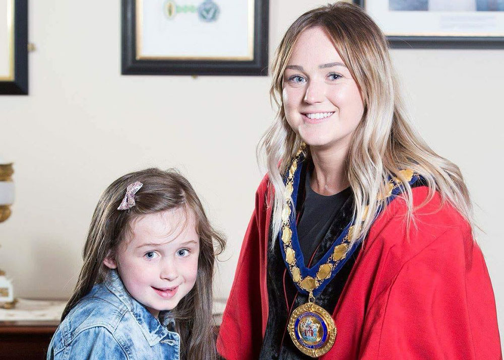 Deputy Mayor of Mid and East Antrim Councillor Cheryl Johnston with daughter Brooke
