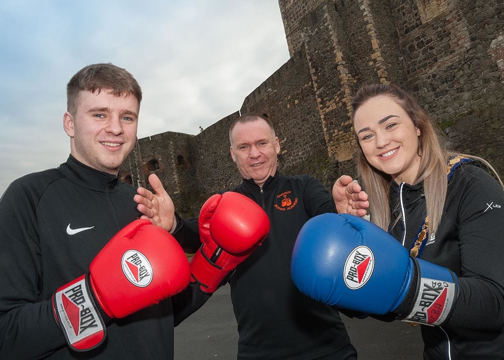 Councillor Cheryl Johnston with organisers of the May Brawl