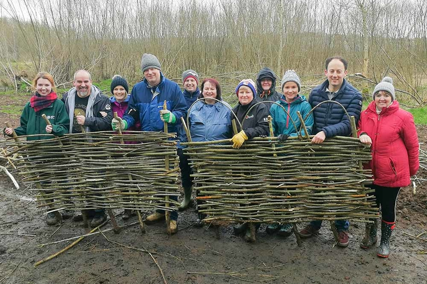 Saintly volunteers help out in borough's parks and open spaces image
