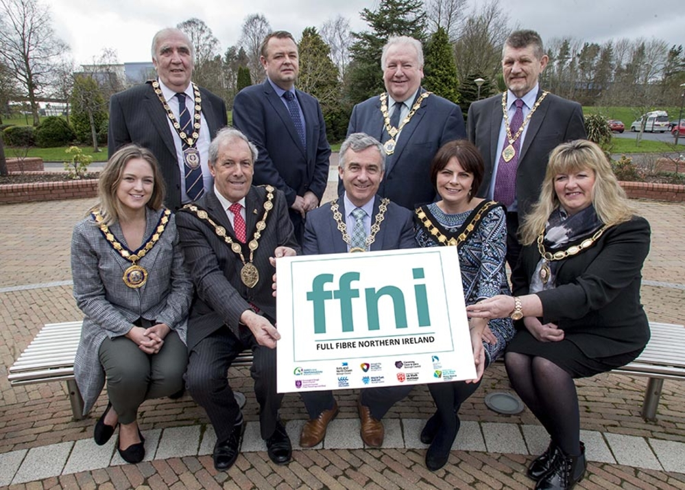 Chairman of Fermanagh and Omagh District Council Cllr Howard Thornton, Cllr R Foster, Antrim and Newtownabbey Borough Council, Deputy Mayor Cllr Eddie Thompson, Ards and North Down Borough Council Alderman Derek Hussey,  Derry City and Strabane District C