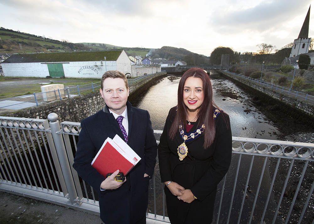 Mayor of Mid & East Antrim, Cllr Lindsay Millar pictured with Andrew Gawley, Director at Lisney