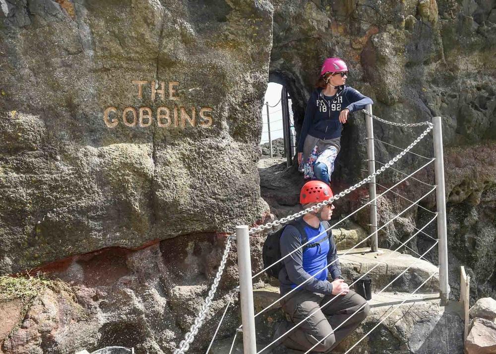 Photograph of Gobbins Visitors