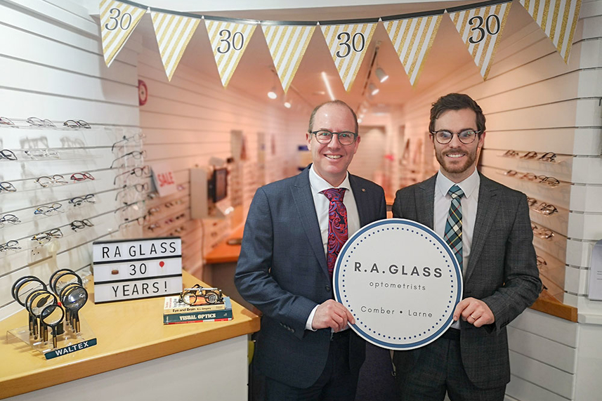 Larne opticians celebrating 30 years of business on Main Street image