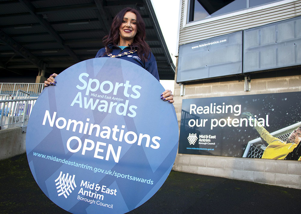Mayor of Mid & East Antrim, Cllr Lindsay Millar, has launched the MEA Sports Awards 2019