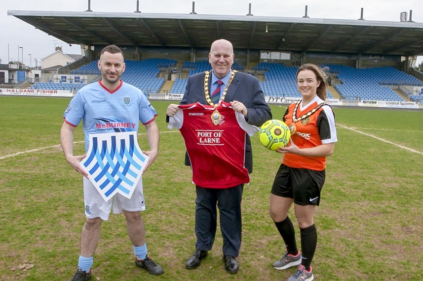 Politicians, staff and community sign for MEA United ahead of charity match to tackle ovarian cancer image