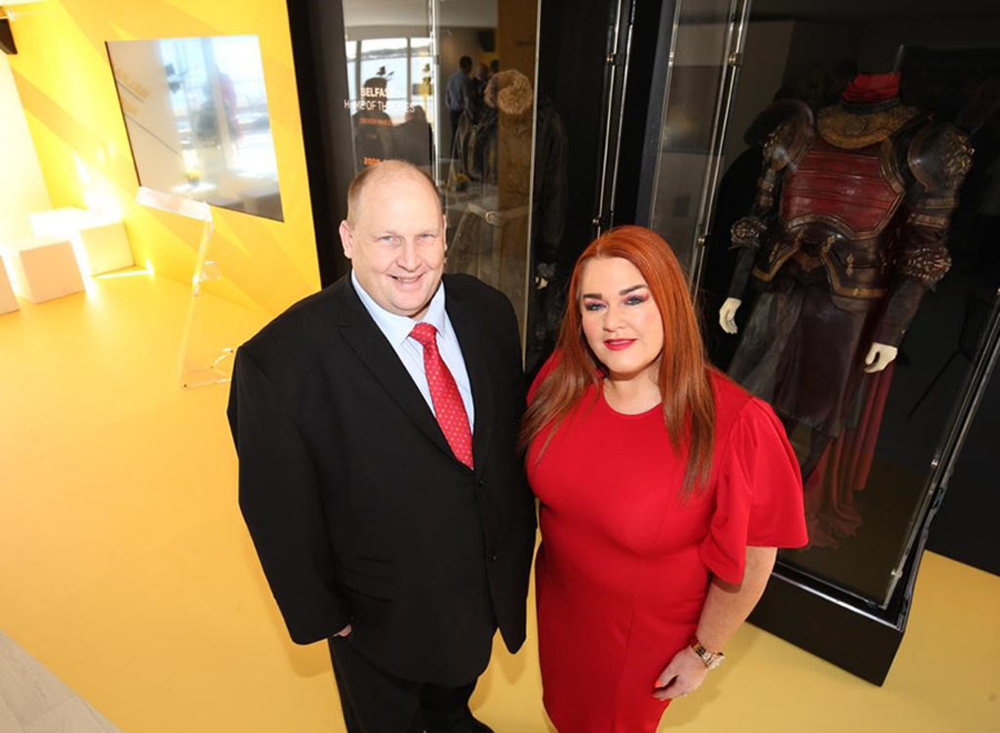 MEA Chief Executive Anne Donaghy and Alderman Gregg McKeen at MIPIM 2019