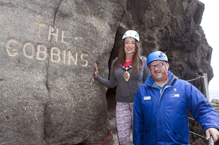 The Gobbins welcomes 20,000th visitor of the summer season to epic coastal walk image