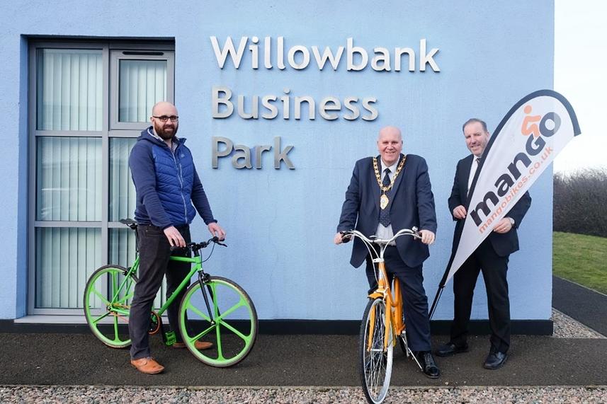 Mayor gets on his bike for business image