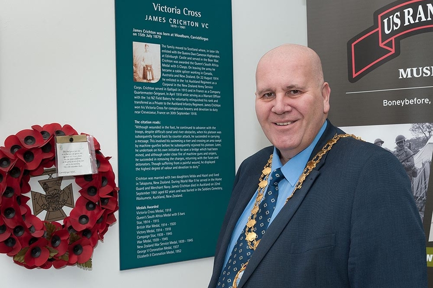 Permanent memorial planned to honour Mid and East Antrim VC hero James Bell Crichton image
