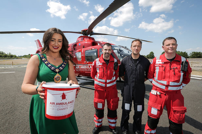Air Ambulance Northern Ireland to get a lift as Mayor's official charity image