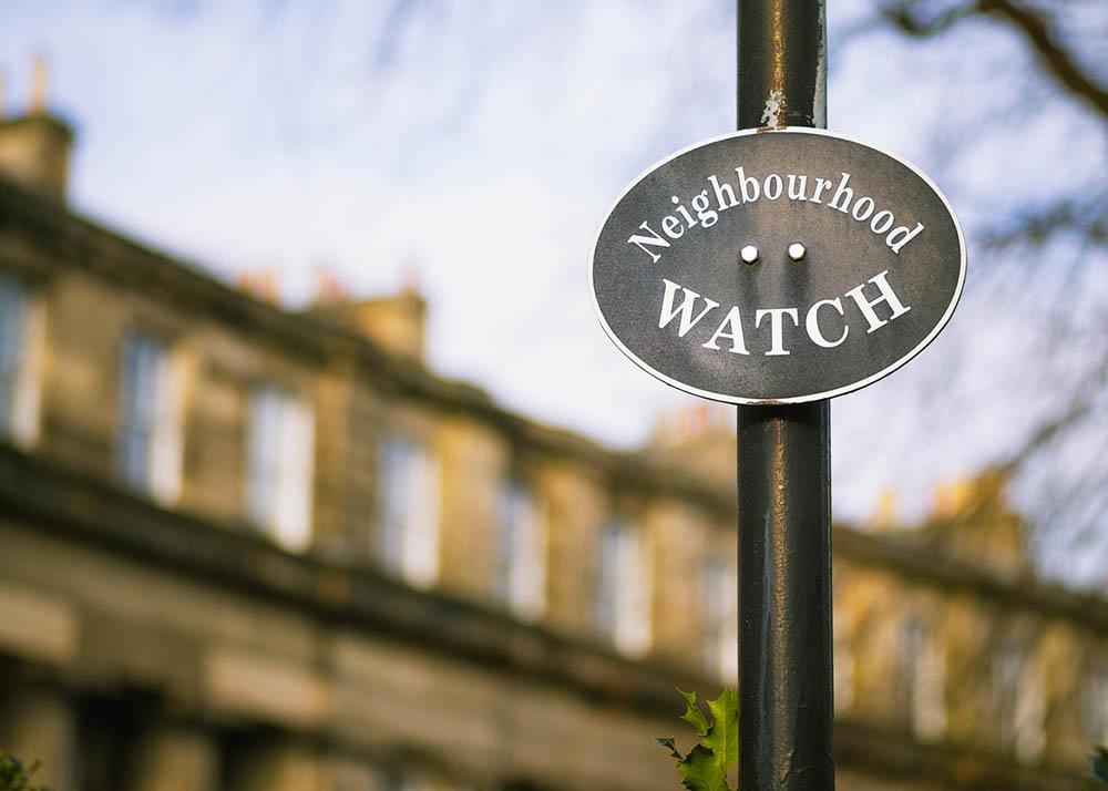 Stock image of a Neighbourhood Watch sign