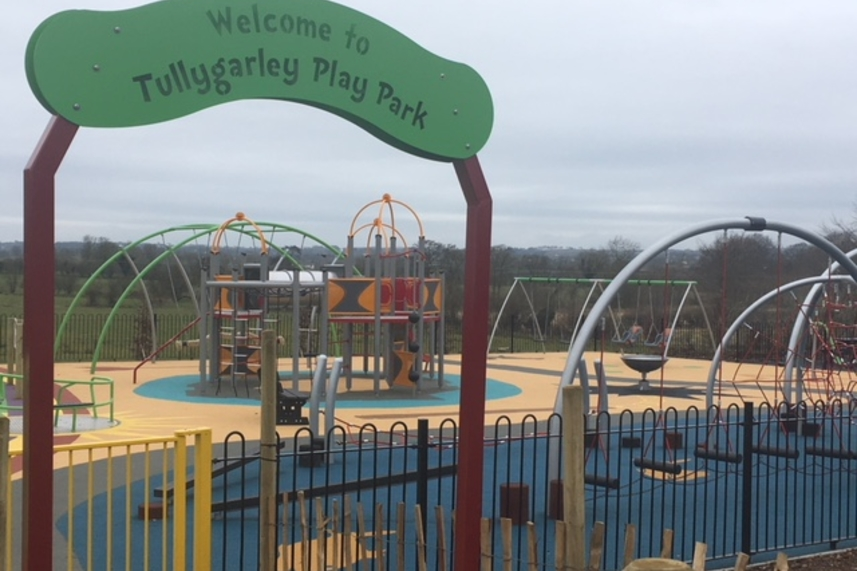 Excitement builds in Tullygarley as children welcome new play area image
