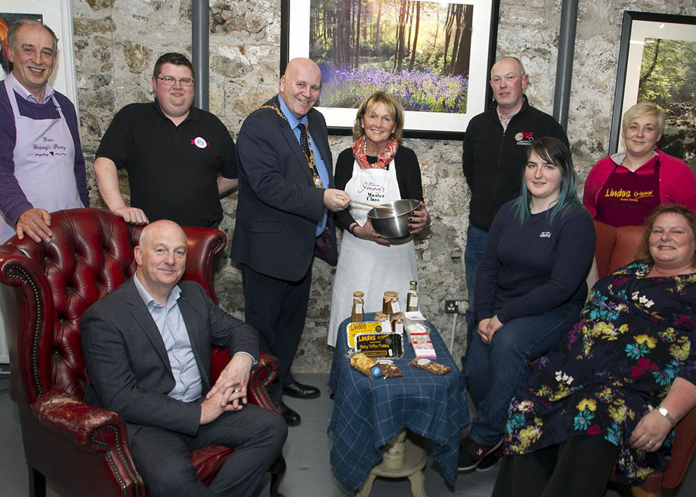 Celebrity chef Jenny Bristow and local producers from Mid and East Antrim who will be showcasing at Balmoral