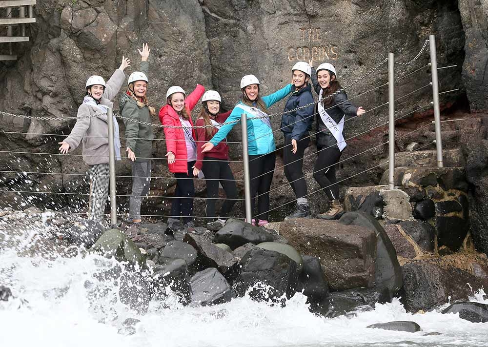 Rose of Tralee hopefuls Gobsmacked by beauty of Mid and East Antrim's top tourism gem