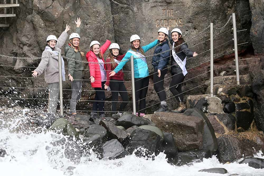 Rose of Tralee hopefuls Gobsmacked by beauty of Mid and East Antrim's top tourism gem image