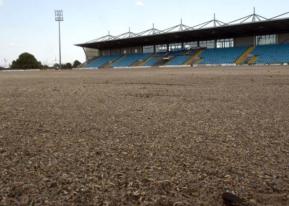 Ballymena Showgrounds new pitch seeding