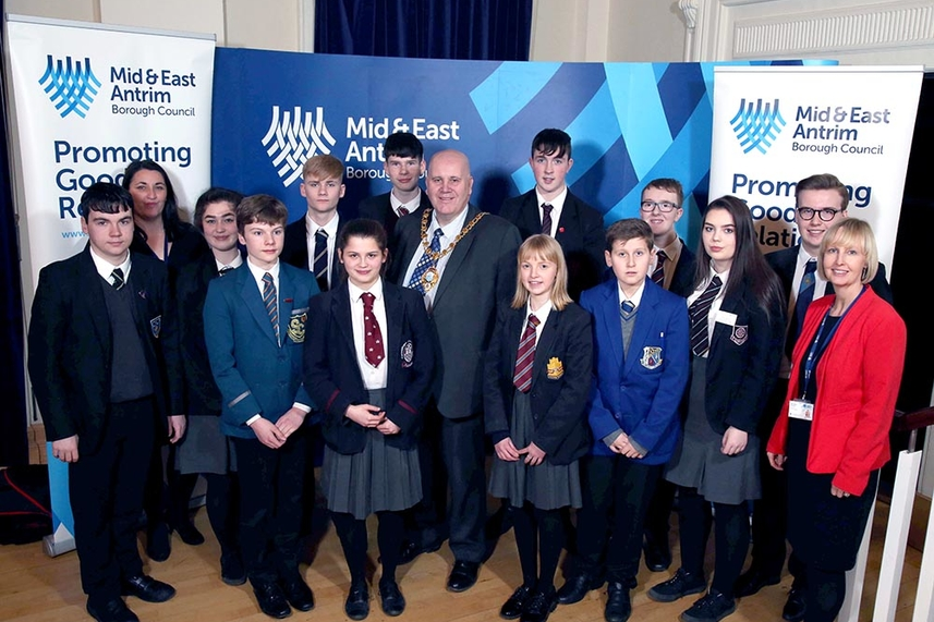 Pupils get a taste of political life with Council image