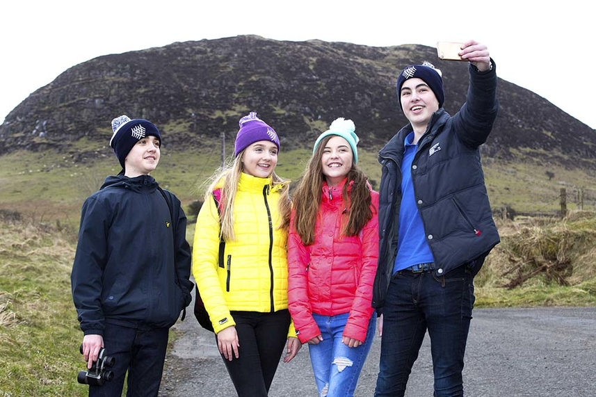 Get ready to share your selfies at Slemish this St Patrick's Day image