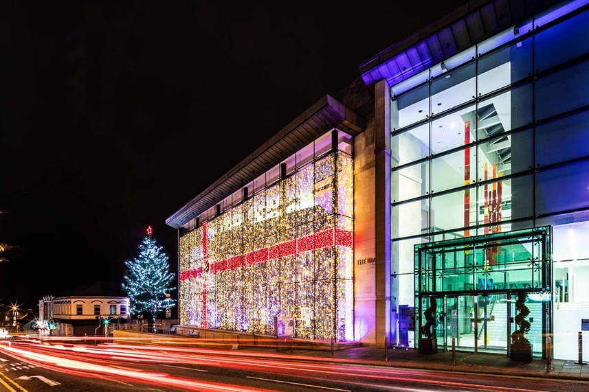 Ballymena Town Hall in the spotlight this Christmas image