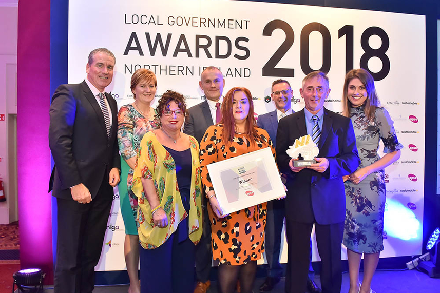 Mid and East Antrim named Best Local Authority Service Team in Northern Ireland image