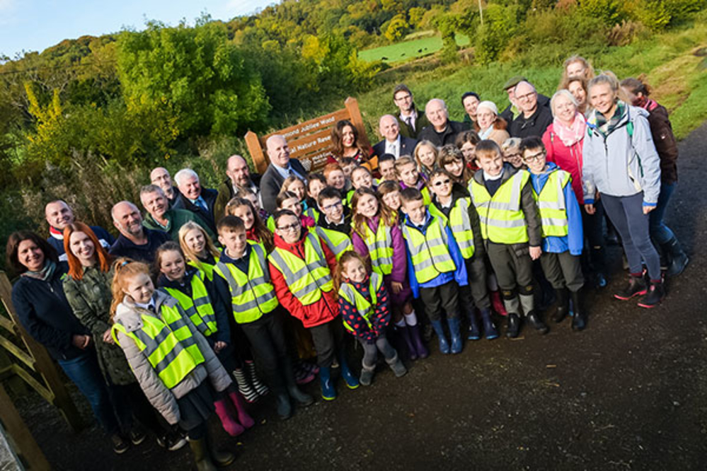 Guests gathered at Diamond Jubilee Wood Whitehead last Friday for the official opening of the site as a Local Nature Reserve