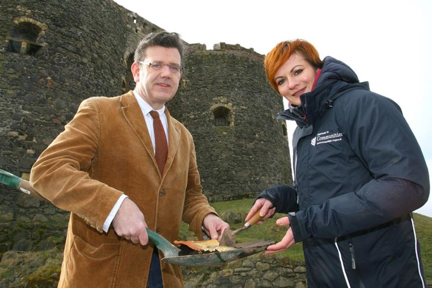 Digging deep to open new doors at Carrickfergus Castle image