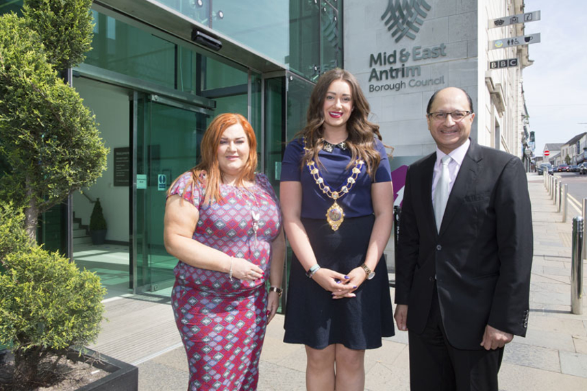 Economy a hot topic at Ministerial visit to Mid and East Antrim Borough Council image