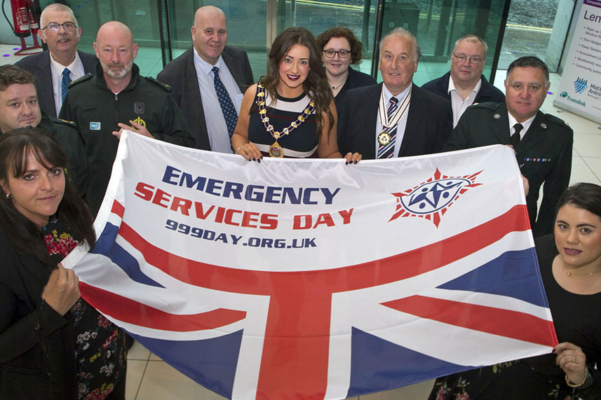 Mid and East Antrim's emergency services honoured for '999 Day' image