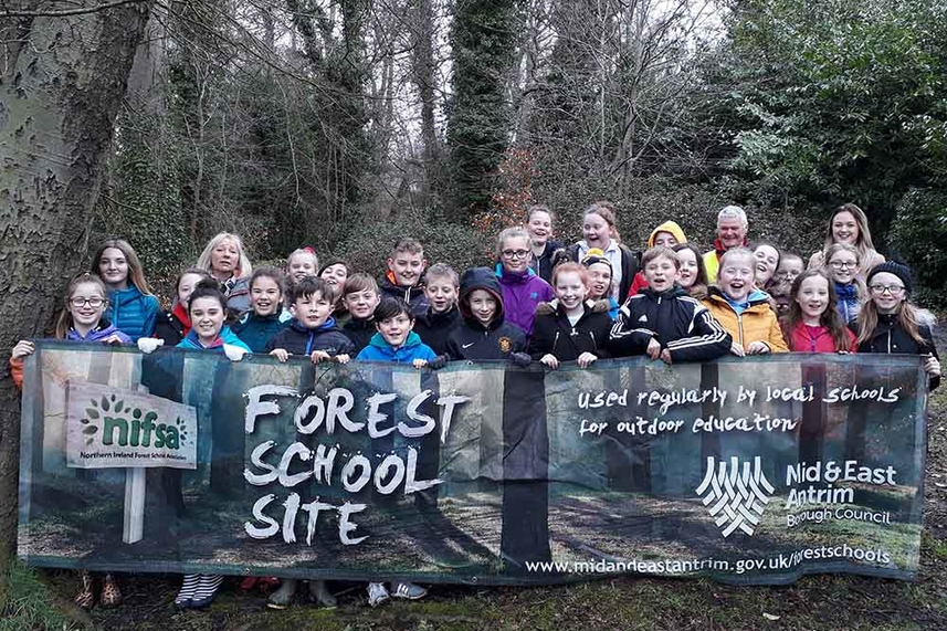 Pupils set off on Forest School adventure image