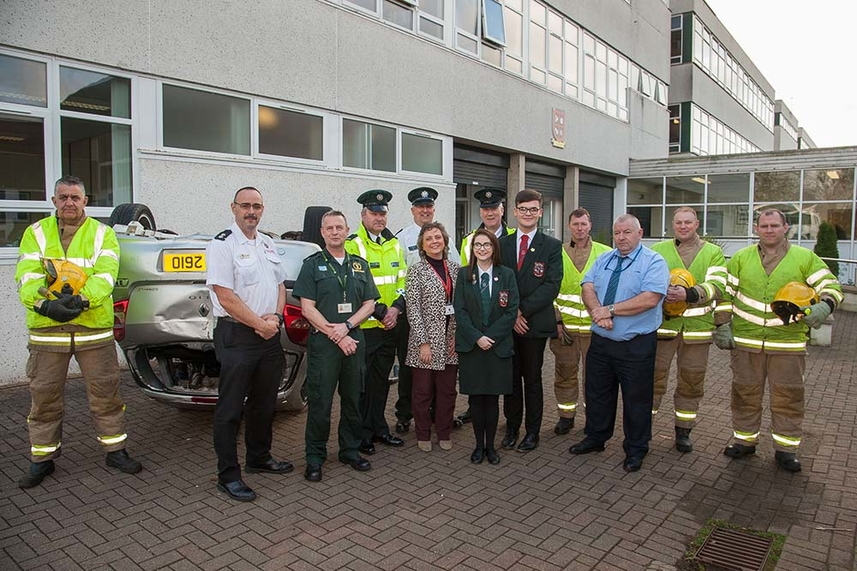 Teenagers hear hard-hitting Road Safety message image