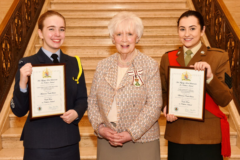 The Mayor of Mid and East Antrim, Councillor Paul Reid, has congratulated two teenagers recently appointed Her Majesty's Lord-Lieutenant's Cadets for the County of Antrim.