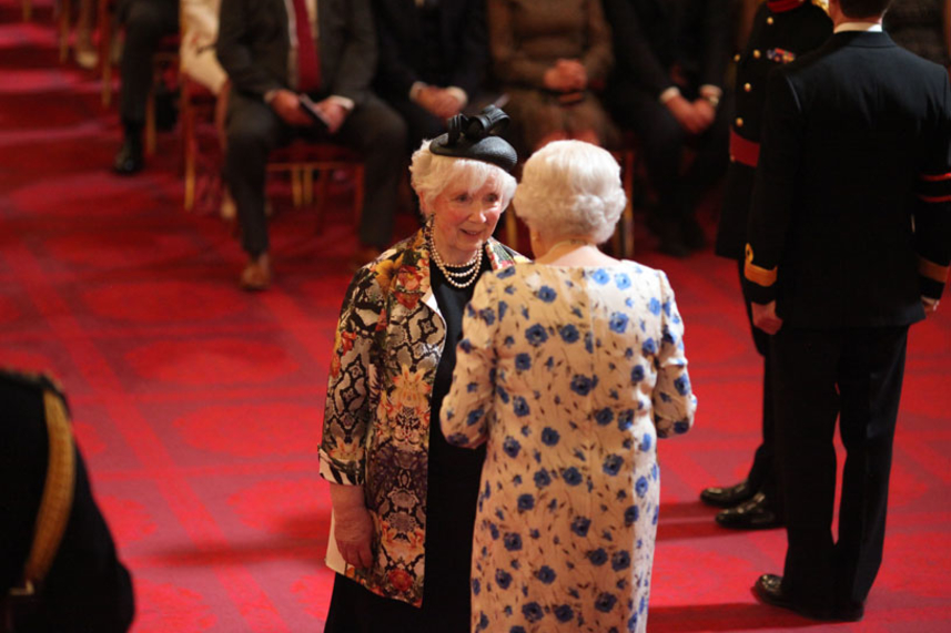 Her Majesty's Lord-Lieutenant Mrs Joan Christie presented with CVO by the Queen image