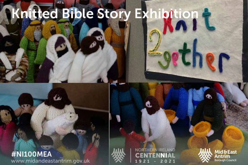 Knitted Bible Story Exhibition image