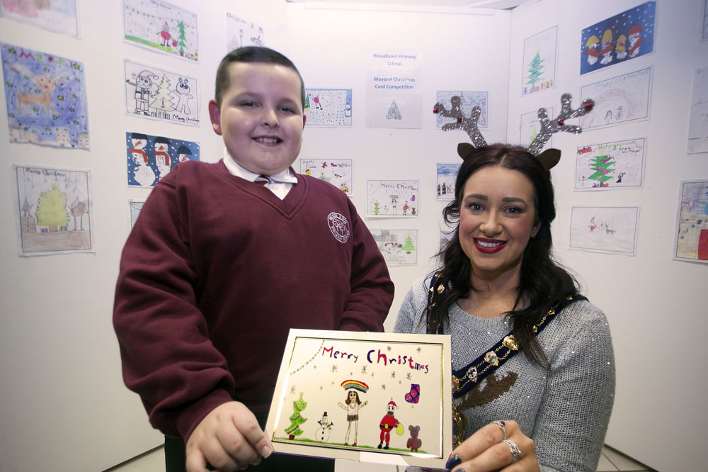 Local boy's portrait of Mayor wins Christmas card competition