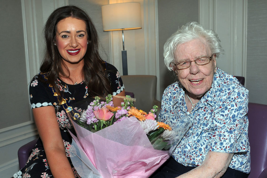 Mayor leads the congratulations as marvellous Maud celebrates 109th birthday image