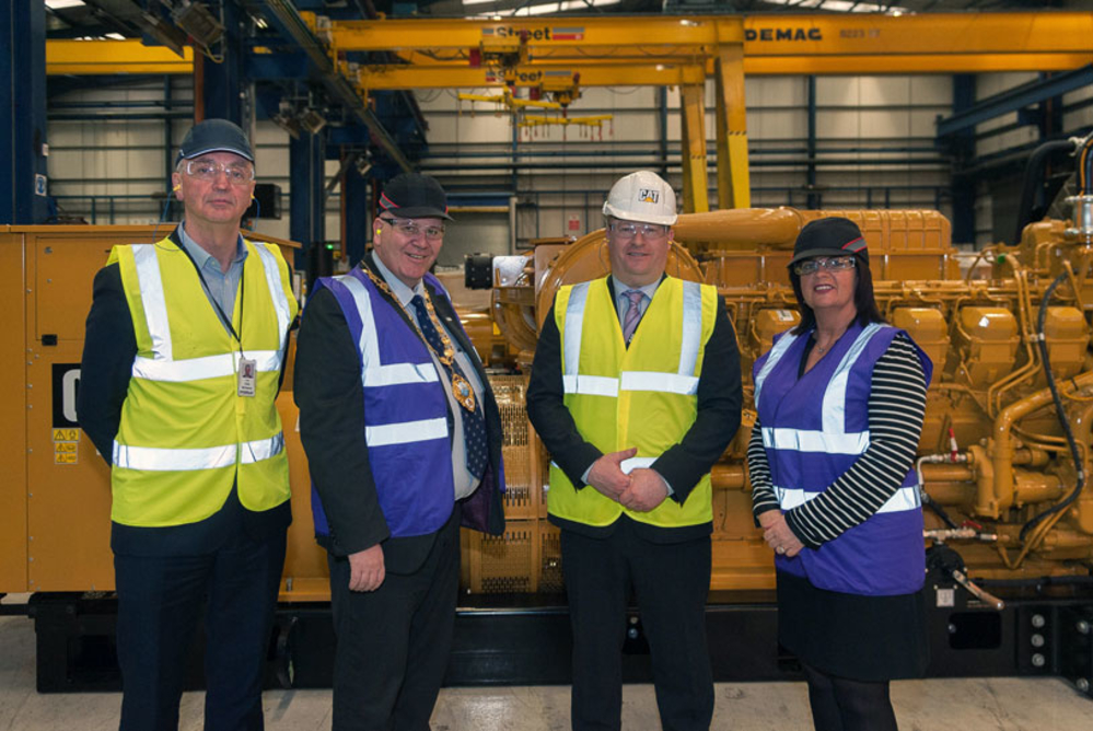 Mayor praises success of Caterpillar during a recent visit to its Larne-based Northern Ireland facility