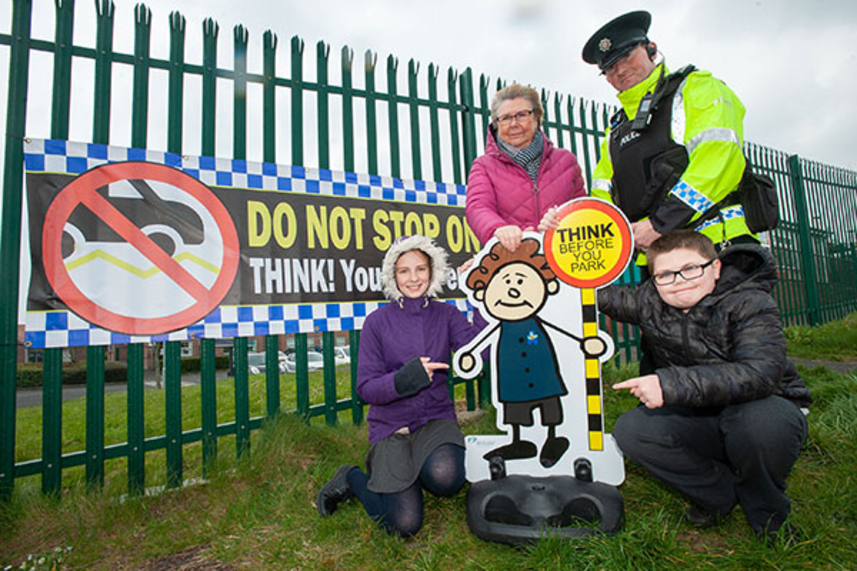 Local school teams up with PCSP to tackle traffic image