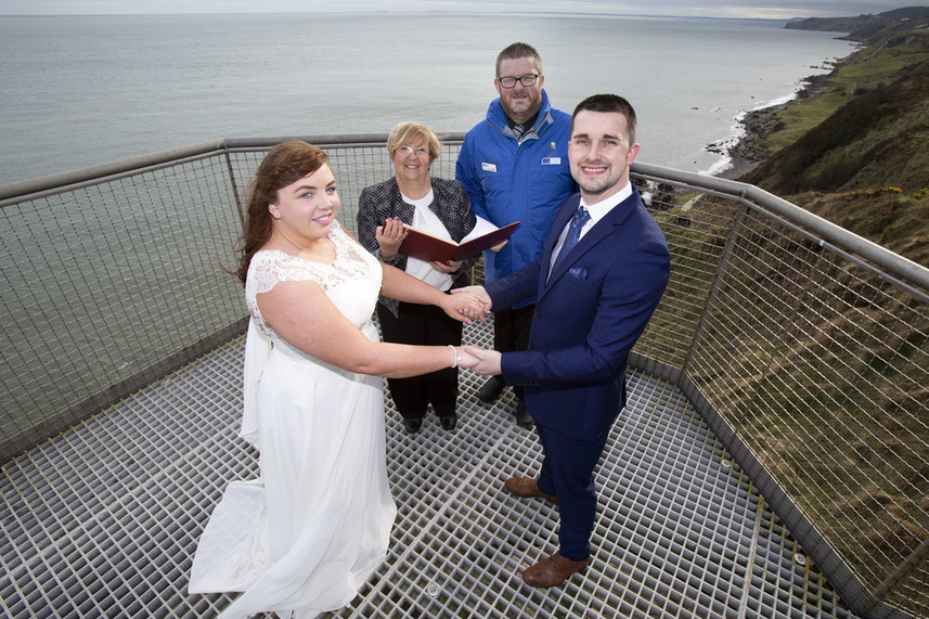Newlyweds set to take the plunge at The Gobbins image